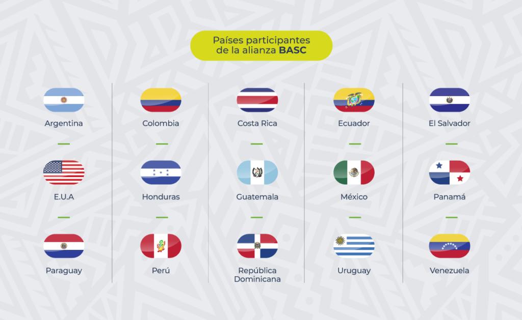 15 países son parte de la BASC