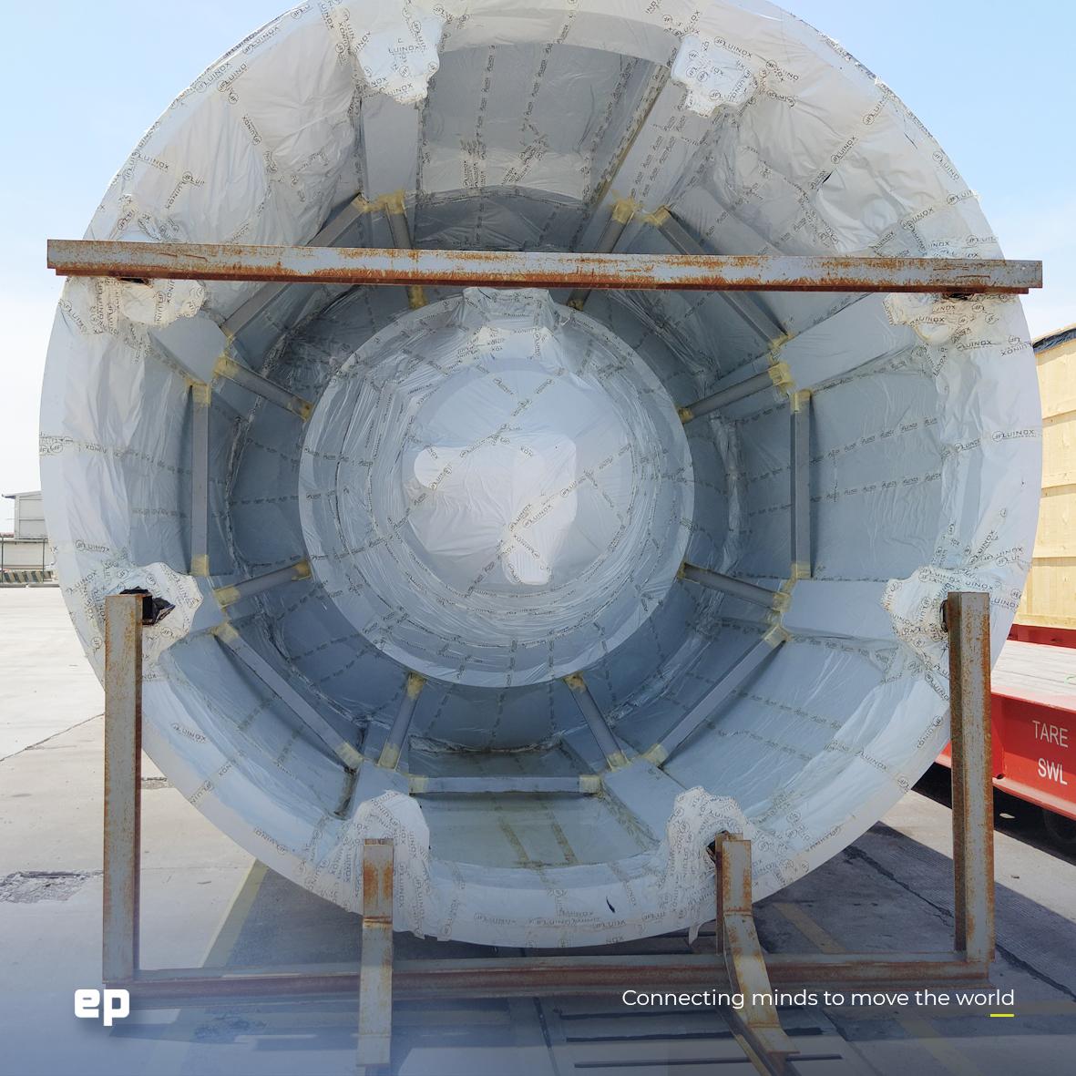 Foto del silo en su llegada a México