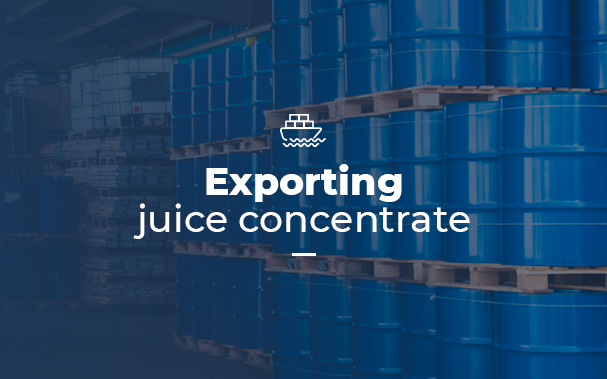 Exporting juice concentrate