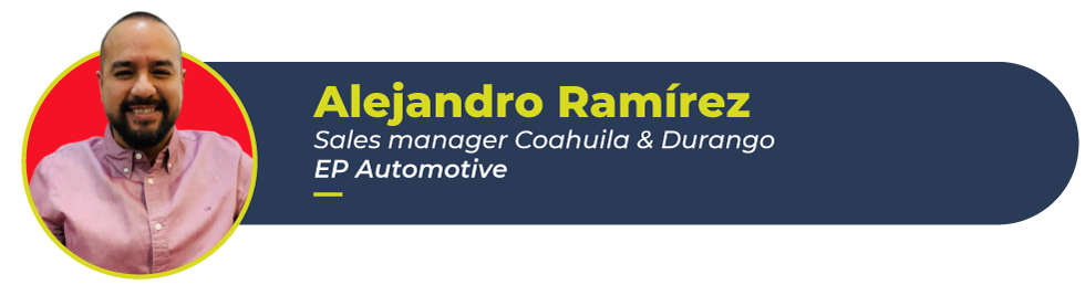 Alex Ramirez, EP Automotive sales manager