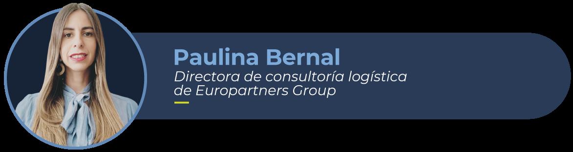 Paulina Bernal, directora de consultoría logpistica de Europartners Group y su foto